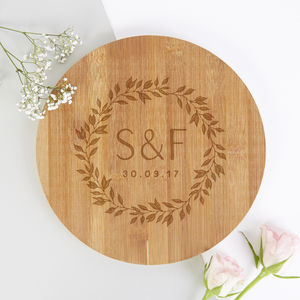 Anniversary Gift Personalised Wooden Chopping Board