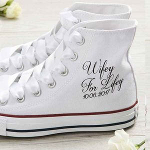 Bride Wedding Converse Shoes Wifey For Lifey - bridal shoes