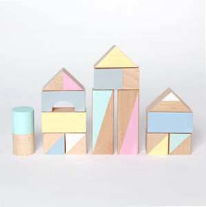 Summer Brights Large Wooden Blocks - wooden toys