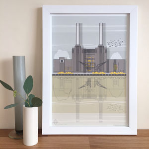 Battersea Power Station Architectural Print - architecture & buildings