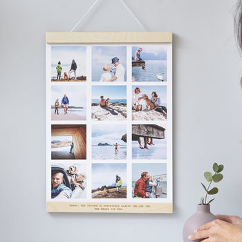 Personalised Hanging Photo Print Frame For Him