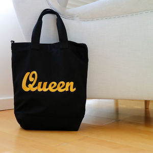 'Queen' Embroidered Crossbody Bag - cross-body bags