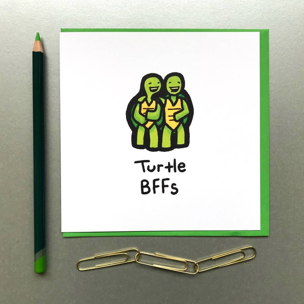 Best Friends Turtle Card