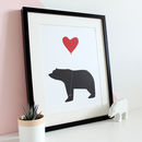 Be Mine, Bear And Balloon A3 Print