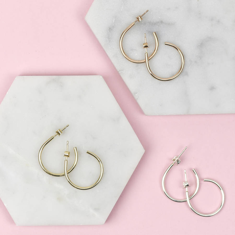 Handmade Solid Gold Hoop Earrings