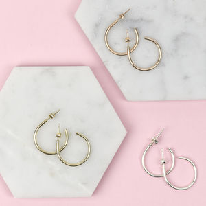 Handmade Solid Gold Hoop Earrings - gold earrings
