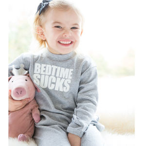Bedtime Sucks Grey Kids Pyjamas By Snuglo™ - clothing