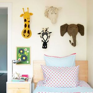 Decorative Felt Animal Head - children's room accessories