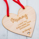 Personalised Mothers Day Hanging Heart Sign