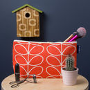 Toiletries Bag In Orla Kiely Linear Stem Tomato