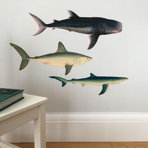 Sharks And Whale Shark Wall Sticker Set