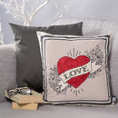 Personalised Love Heart Cushion