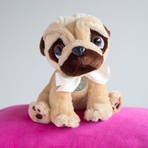 Personalised Pugsley The Pug Dog - soft toys & dolls