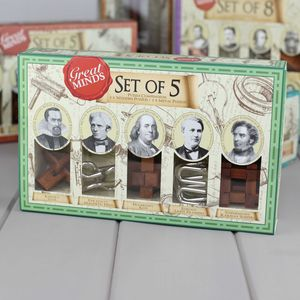 Set Of Five Puzzles Based On Great Minds - toys & games