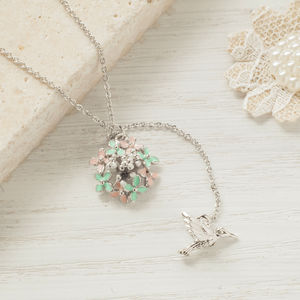 Bird And Flower Necklace - necklaces & pendants