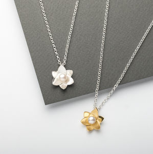 Daffodil Pearl Pendant - necklaces & pendants