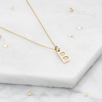 Small Silver Or Gold Initial Letter Charm Necklace