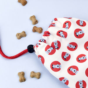 White Dog Treat Bag