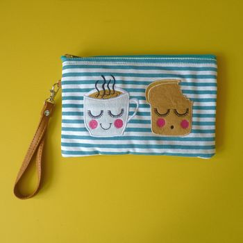 Tea And Toast Cosmetic Pouch / Clutch