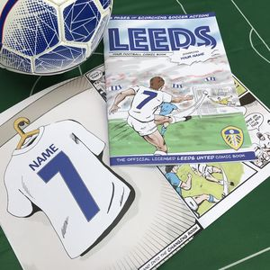 Personalised Leeds United Football Club Comic Book