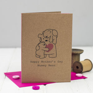 Mummy Bear Mother's Day Card - mother's day cards & wrap