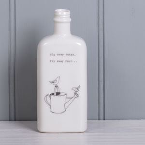 'Fly Away Peter…' Porcelain Bottle Vase