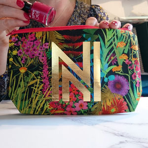 Tropical Monogram Make Up Bag