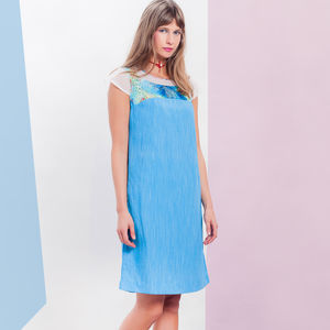 Capetown Dress Blue - women's fashion