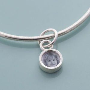 Silver Charm Locket Bangle