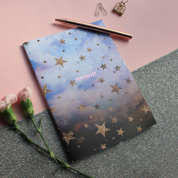 Feminist Cloudy Stars A5 Notebook