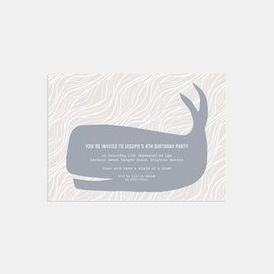 Whale Of A Time Personalised Party Invitations