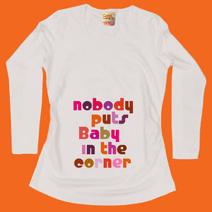 Mum To Be Maternity Gift 'Baby In The Corner' T Shirt - women's fashion