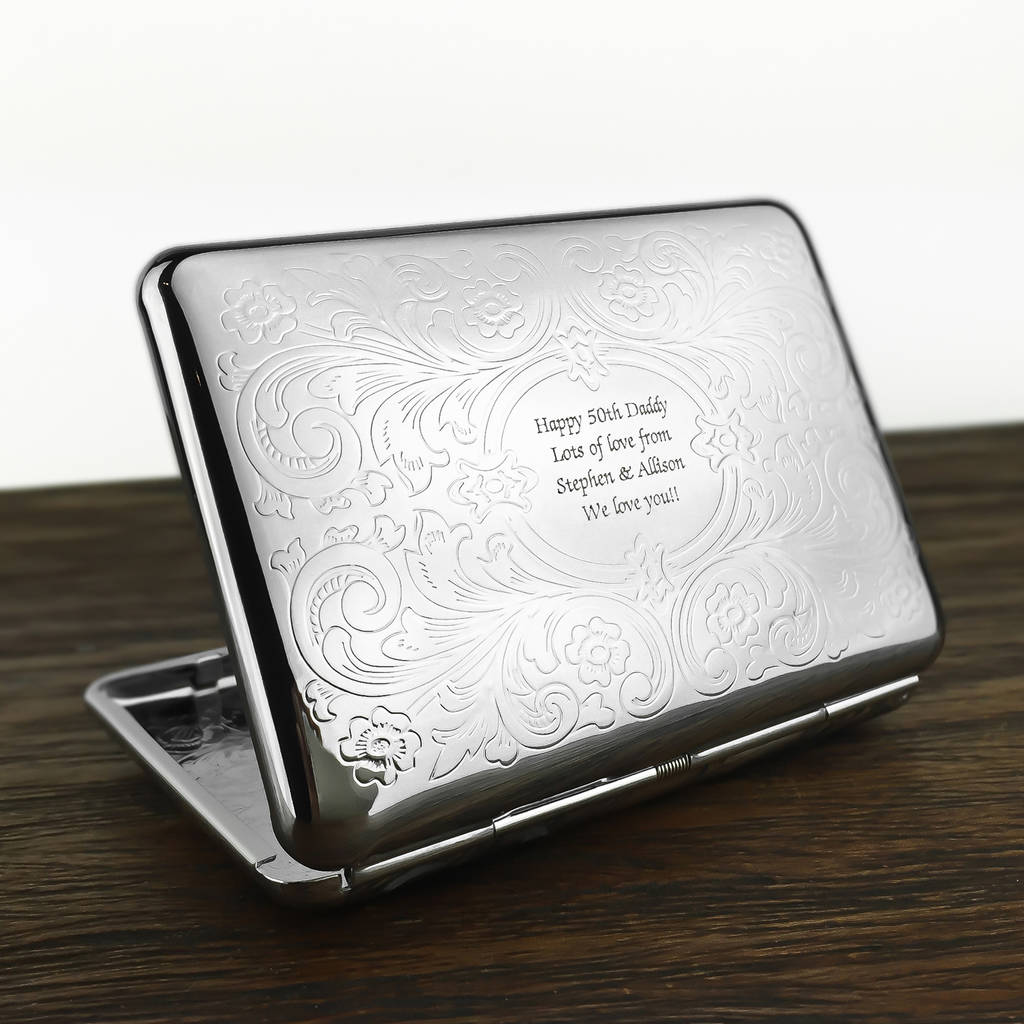 Personalised cigarette case with engraved message by wild for Design a case