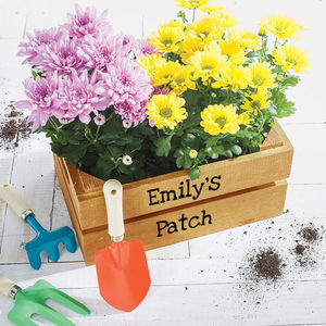 Personalised Kid's Planting Crate - garden gifts for children