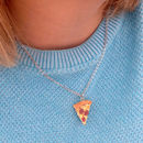Handmade Pizza Pendant Necklace