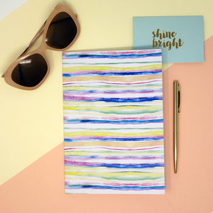 Sorbet Stripe Print A5 Notebook