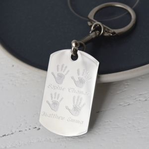 Personalised Handprint And Footprint Keyring