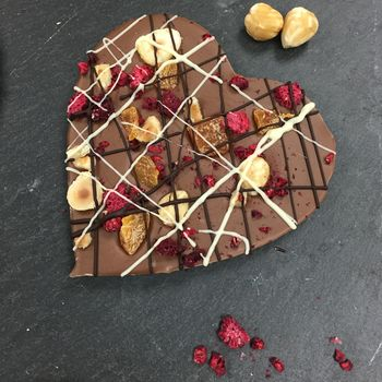 Fruit And Nut Belgian Chocolate Heart