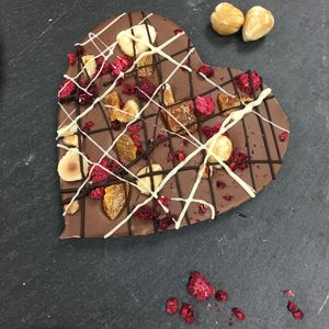 Fruit And Nut Belgian Chocolate Heart - novelty chocolates