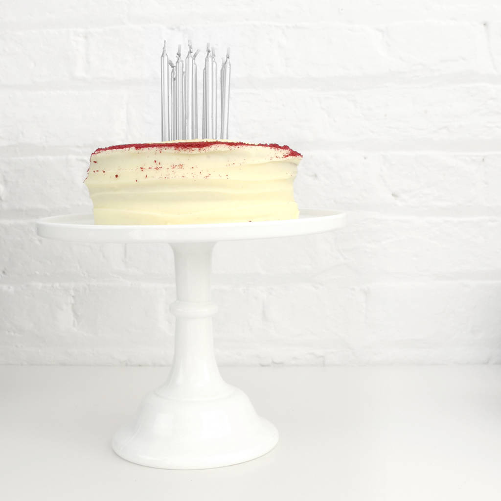Silver Birthday Party Cake Candles