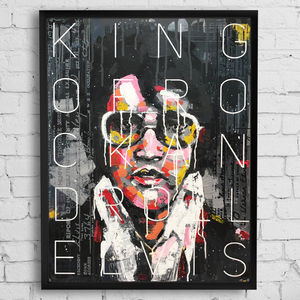 'The King' Original Mixed Media Painting