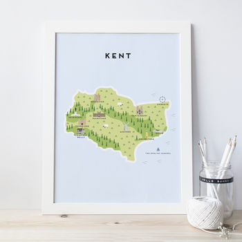 Map Of Kent Print
