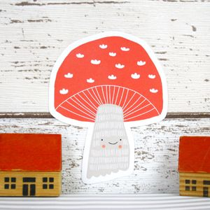 Small Toadstool Wall Sticker