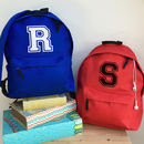 Personalised Letter School Backpack