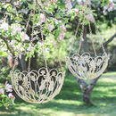 Set Of Two Ornate Botanical Hanging Baskets