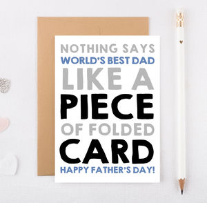 'Nothing Says World's Best Dad' Funny Fathers Day Card