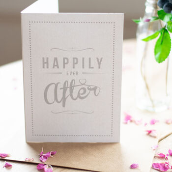 'Happily Ever After' Retro Wedding Or Anniversary Card