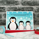 'Penguins' Personalised Christmas Card From Children