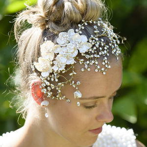 Evangeline Headdress - bridal hairpieces