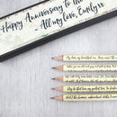 Personalised Irish Poetry Pencils